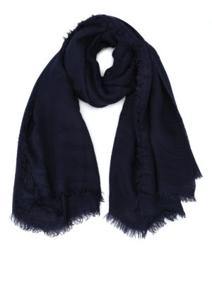 Faliero Sarti: scarves - Jurin blue modal and cashmere scarf