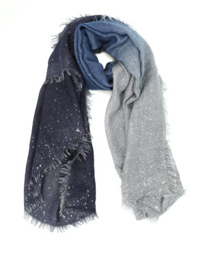 Faliero Sarti: scarves - Lery sequined wool blend scarf