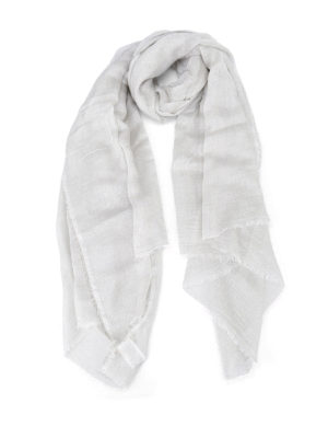 Faliero Sarti: scarves - Lux pearl grey scarf
