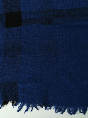 Faliero Sarti: scarves online - Paulo blue wool blend scarf