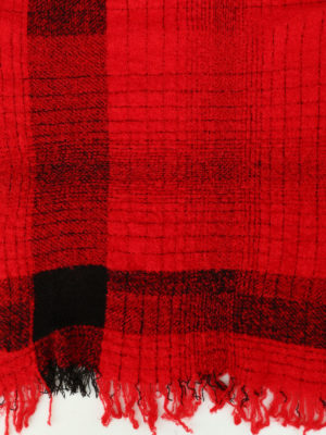 Faliero Sarti: scarves online - Paulo red wool blend scarf