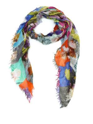 Faliero Sarti: scarves - Petaloso modal and silk scarf