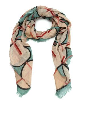 Faliero Sarti: scarves - Quiz geometric print cotton scarf