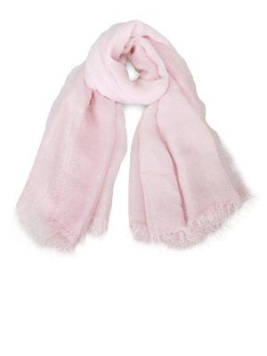Faliero Sarti: Stoles & Shawls - Damita lurex insert pink shawl