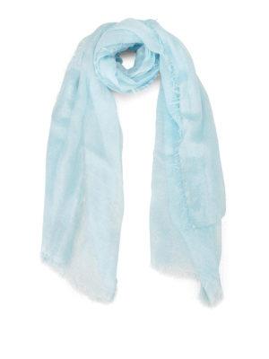 Faliero Sarti: Stoles & Shawls - Damita shimmering light blue stole