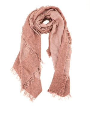 Faliero Sarti: Stoles & Shawls - Isadora pink wool cashmere shawl