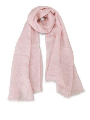 Faliero Sarti: Stoles & Shawls - Jessica lurex insert pink shawl
