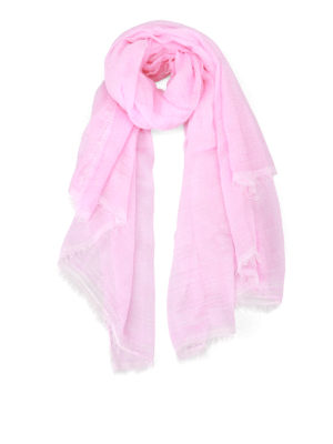 Faliero Sarti: Stoles & Shawls - Jur modal and cashmere pink stole
