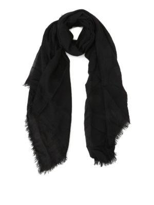 Faliero Sarti: Stoles & Shawls - Jurin modal & cashmere black shawl