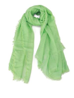 Faliero Sarti: Stoles & Shawls - Jurin modal & cashmere green shawl