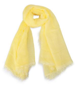 Faliero Sarti: Stoles & Shawls - Jurin modal & cashmere yellow shawl