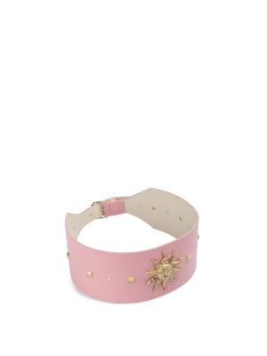 FAUSTO PUGLISI: cinture - Cintura borchiata applicazione sole dorato