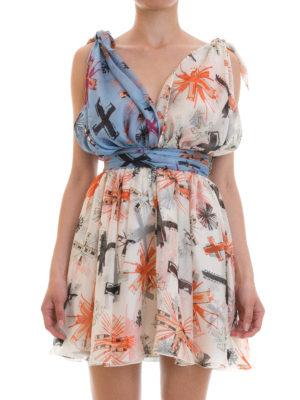 Fausto Puglisi: cocktail dresses online - Patterned silk mini dress
