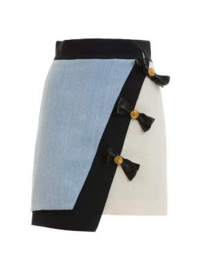 Fausto Puglisi: mini skirts - Bow detailed asymmetric skirt