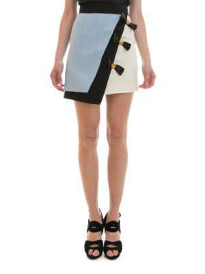 Fausto Puglisi: mini skirts online - Bow detailed asymmetric skirt