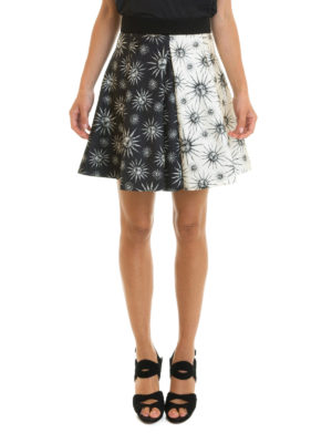 Fausto Puglisi: mini skirts online - Two-face sun printed circle skirt