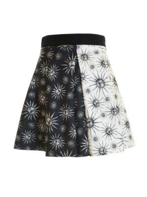Fausto Puglisi: mini skirts - Two-face sun printed circle skirt