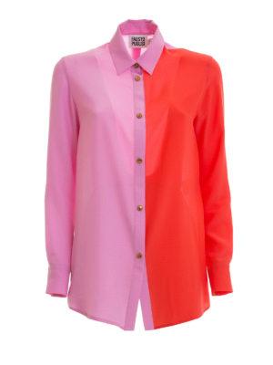 Fausto Puglisi: shirts - Bicolour silk shirt
