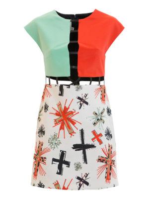 Fausto Puglisi: short dresses - Cut out detailed colour block dress