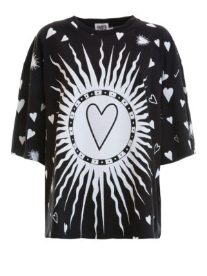 Fausto Puglisi: t-shirts - Hearts print oversize T-shirt