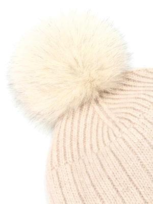 Fay: beanies online - Fur pompom detailed beanie