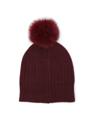 Fay: beanies online - Fur pompom detailed beanie