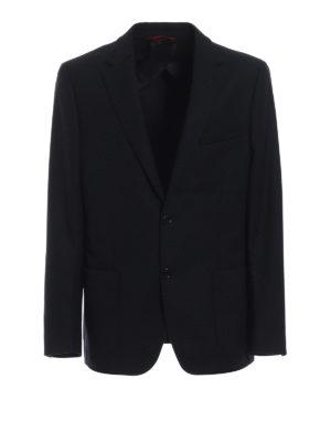 FAY: giacche blazer - Blazer blu in lana