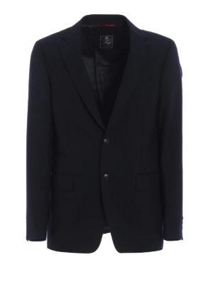 FAY: giacche blazer - Blazer in lana blu