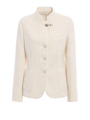 Fay: blazers - Cotton blend tweed blazer