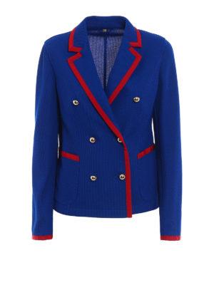 Fay: blazers - Double-breasted jersey blazer