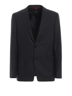 FAY: giacche blazer - Blazer grigio in lana vergine