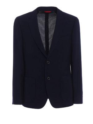 Fay: blazers - Natté wool unlined blazer