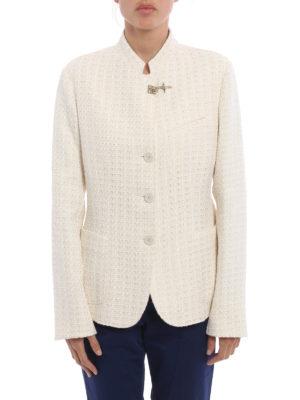 Fay: blazers online - Cotton blend tweed blazer