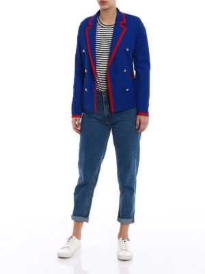 Fay: blazers online - Double-breasted jersey blazer