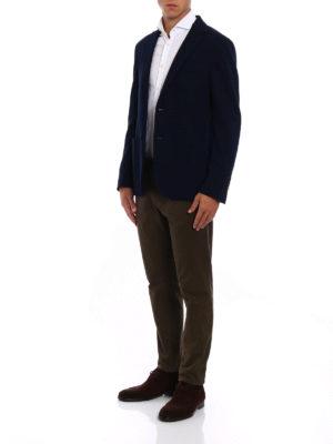 Fay: blazers online - Houndstooth blue cotton blazer