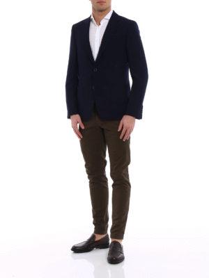 Fay: blazers online - Natté wool unlined blazer