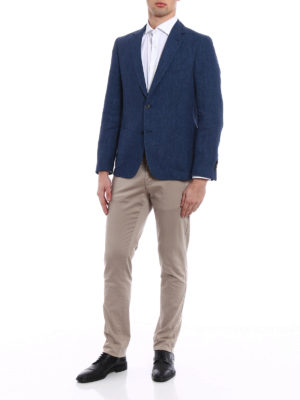 Fay: blazers online - Washed-out linen blazer