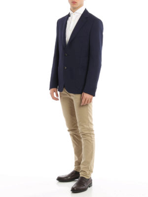 Fay: blazers online - Wool and mohair unlined blazer