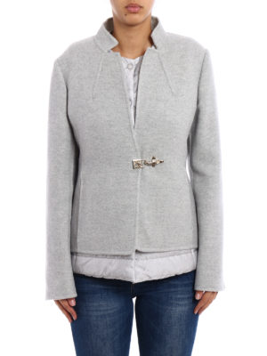 Fay: blazers online - Wool double jacket with puffer vest