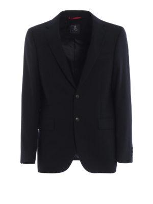 FAY: giacche blazer - Blazer sartoriale in cotone Travel Jacket
