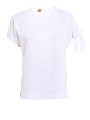 Fay: blouses - Bow detailed white cotton blouse