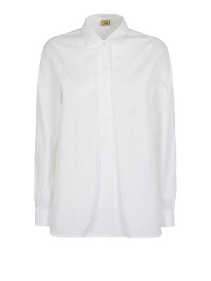 FAY: bluse - Blusa in popeline di cotone