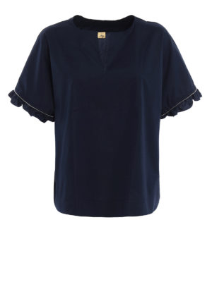 Fay: blouses - Embellished cotton blouse