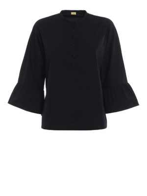Fay: blouses - Flounces detailed poplin blouse