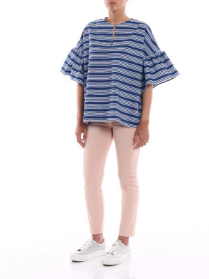 Fay: blouses online - Poplin relaxed striped blouse