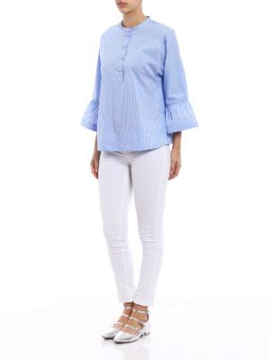 Fay: blouses online - Striped poplin boho chic blouse