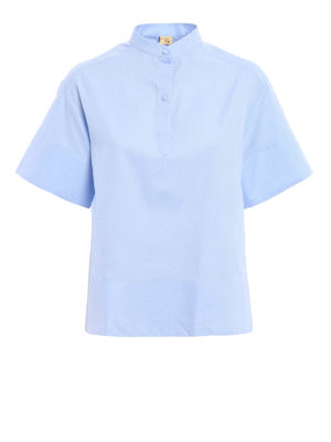 Fay: blouses - Oxford cotton A-line blouse
