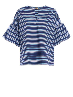 Fay: blouses - Poplin relaxed striped blouse