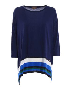Fay: blouses - Silk detail viscose blouse