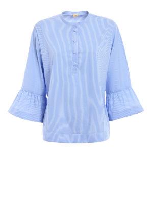 Fay: blouses - Striped poplin boho chic blouse